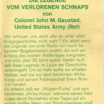 Rommel Schnaps Heft 2/6
