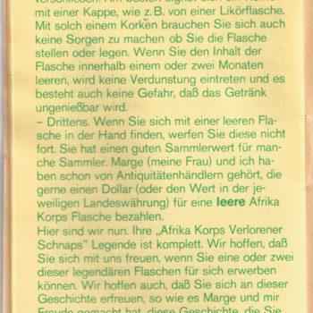 Rommel Schnaps Heft 6/6