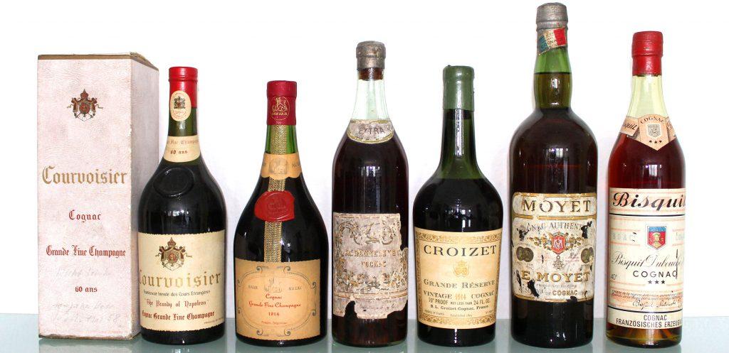 unterschiedliche Cognacflaschen