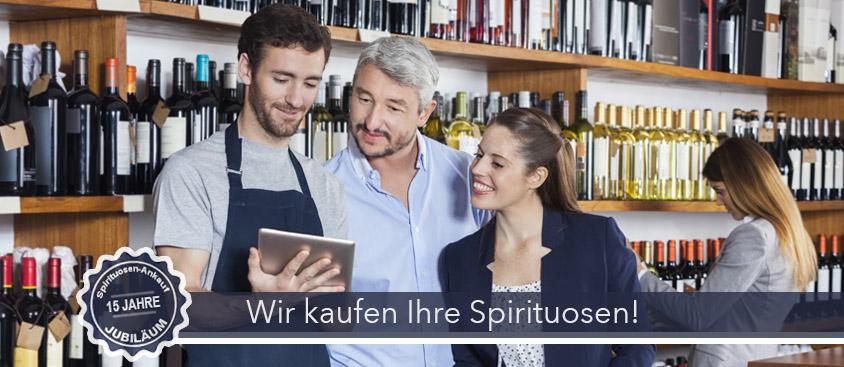 Spirituosen Ankauf Header-Bild